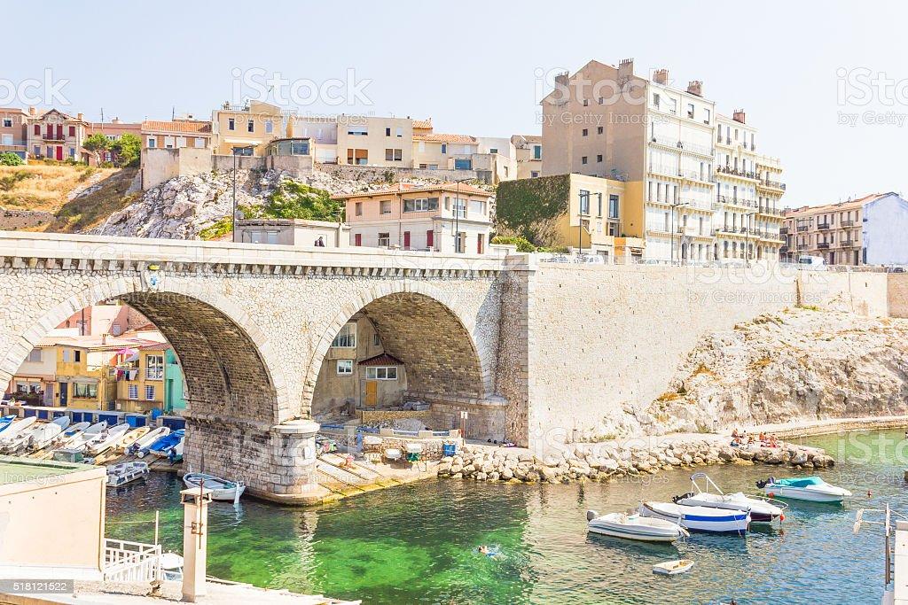 The Vallon des Auffes, Marseilles, France stock photo