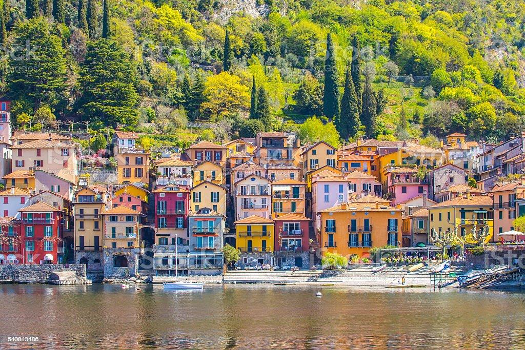 The Varenna on Lake Como in Lecco, Italy stock photo
