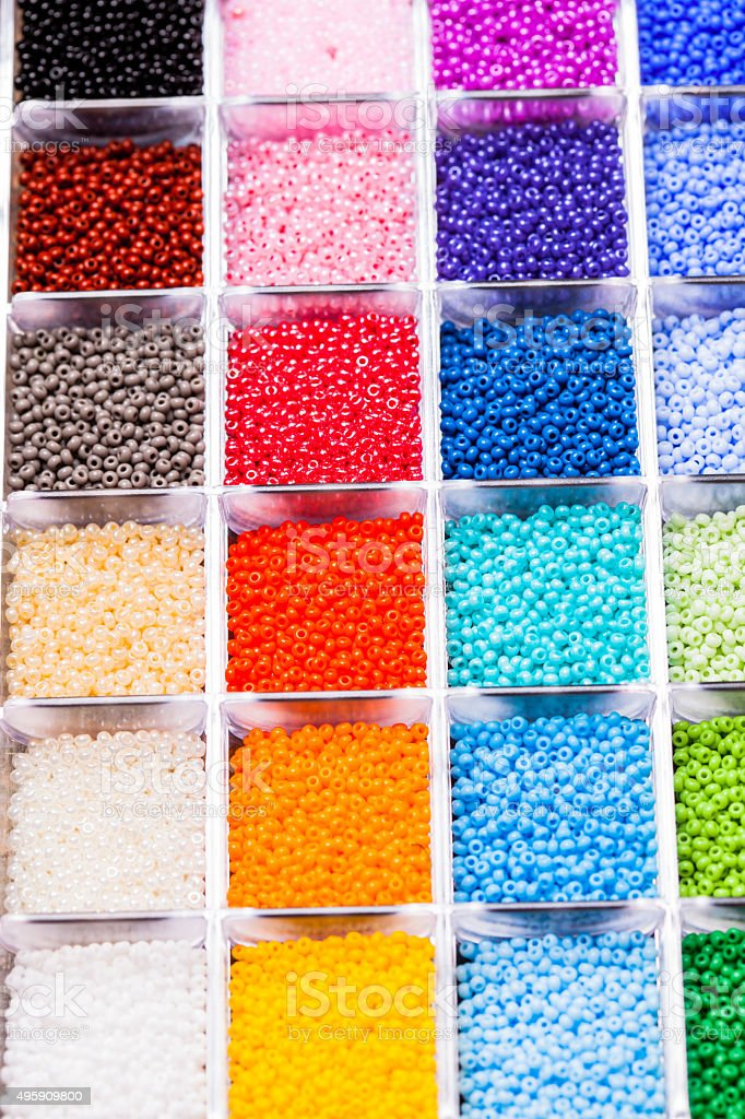 The Various beads stock photo