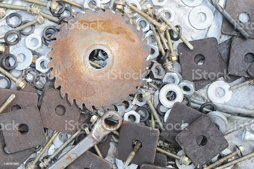 The various hardwares background royalty-free stock photo