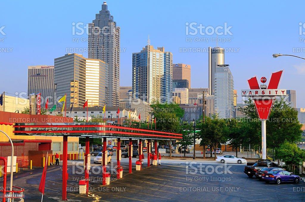 The Varsity in Atlanta, Georgia royalty-free stock photo