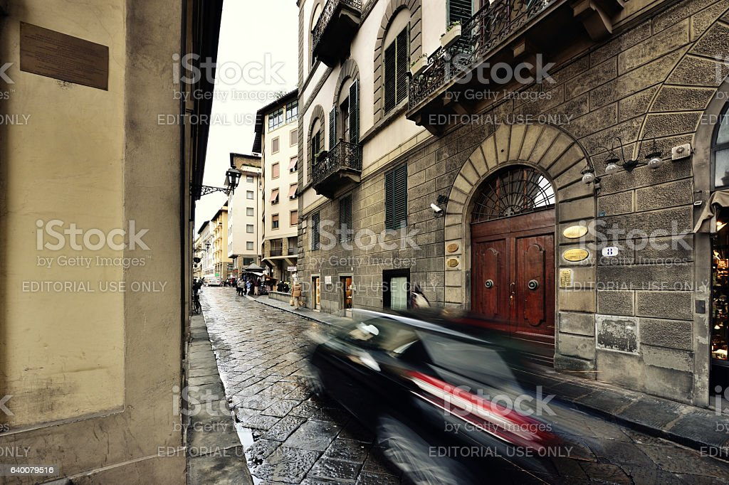 The Vasari Corridor, Ponte Vecchio, Florence, Italy stock photo