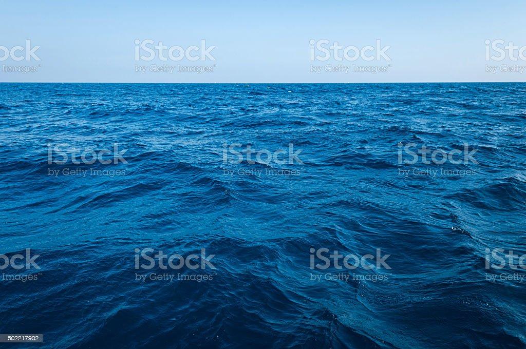 The vast ocean and deep stock photo