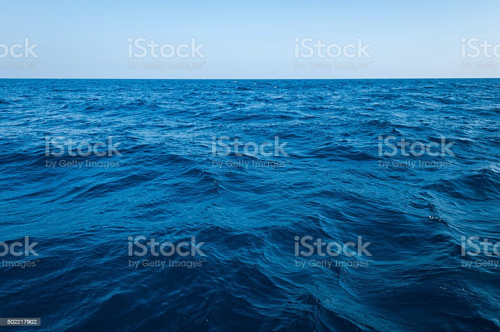 The vast ocean and deep stock photo