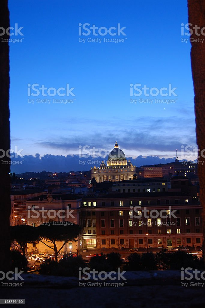 The Vatican at Night royalty-free stock photo