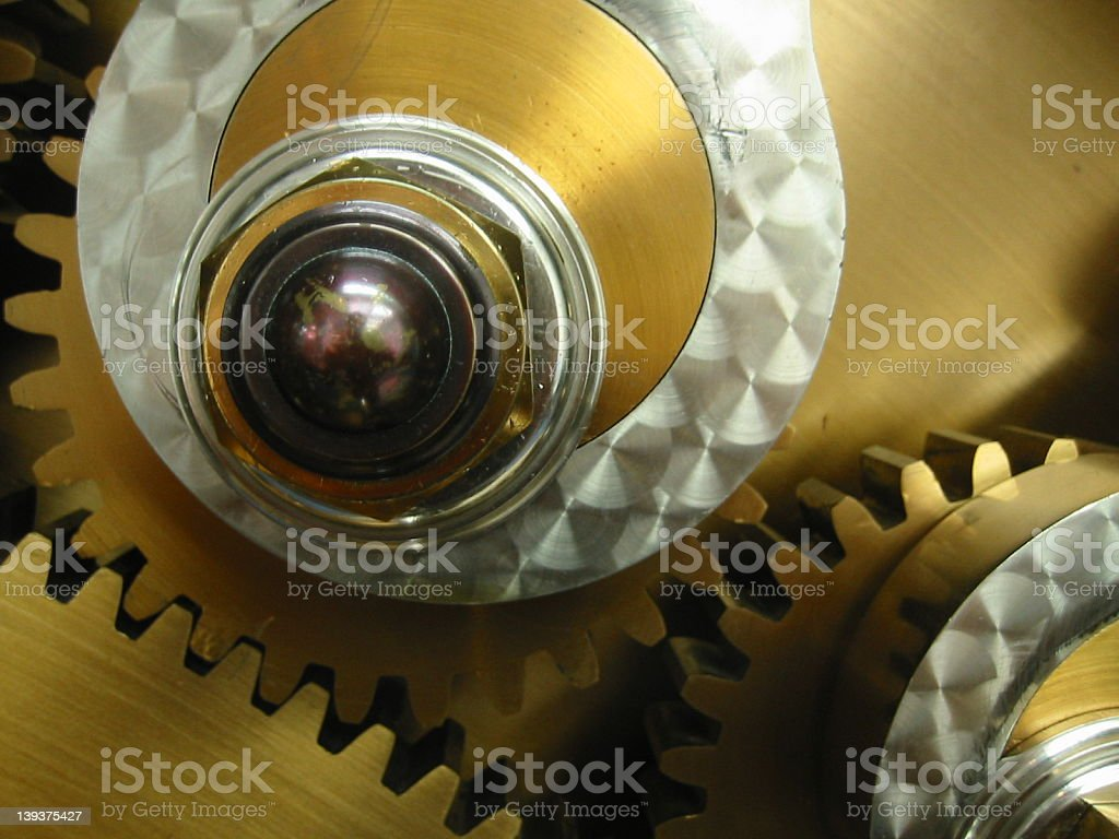 The Vault 3: Brass Gears royalty-free stock photo