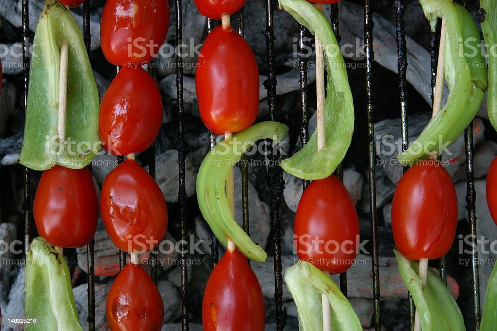 The vegetable barbecue royalty-free stock photo