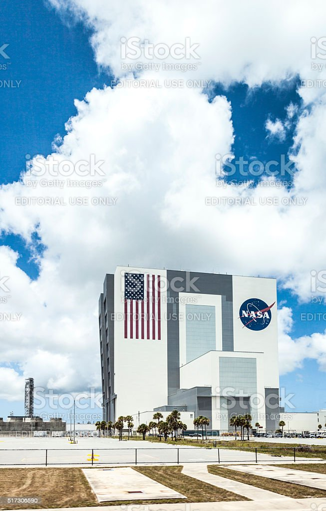 The Vehicle Assembly Building at NASA, Kennedy Space stock photo