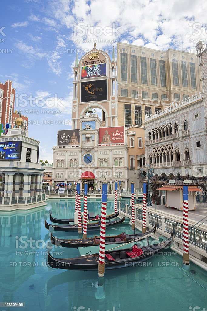 The Venetian Las Vegas royalty-free stock photo