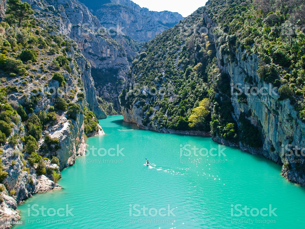 The Verdon Gorge stock photo