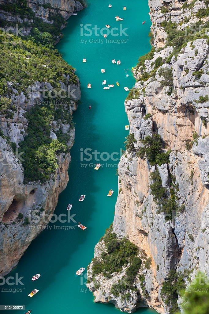 The Verdon gorge, Provence, France stock photo