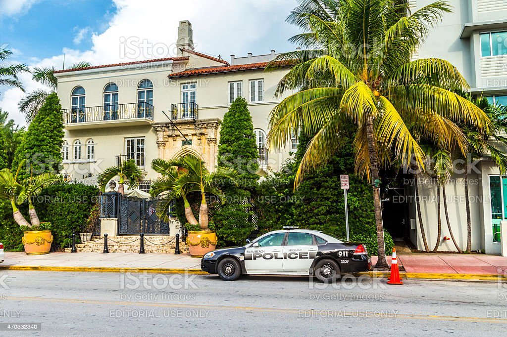 The Versace Mansion at Ocean Drive stock photo