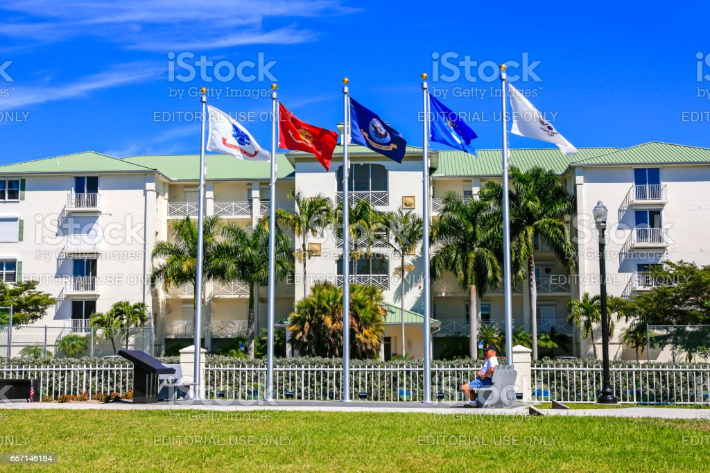The Veteran's Memorial Park in Punta Gorda, Florida. stock photo