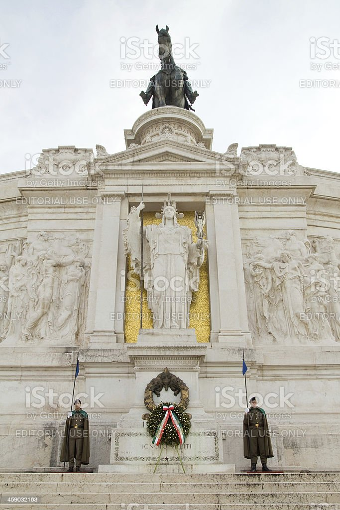 The Victor Emmanuel II monument royalty-free stock photo