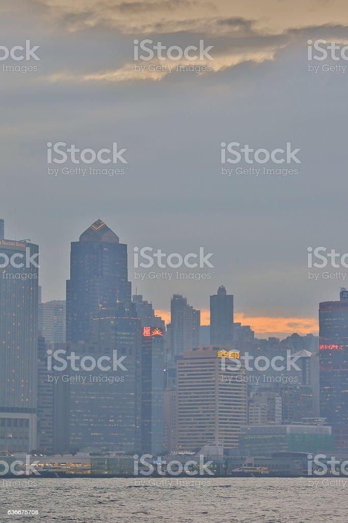 the Victoria Harbor of Hong Kong stock photo