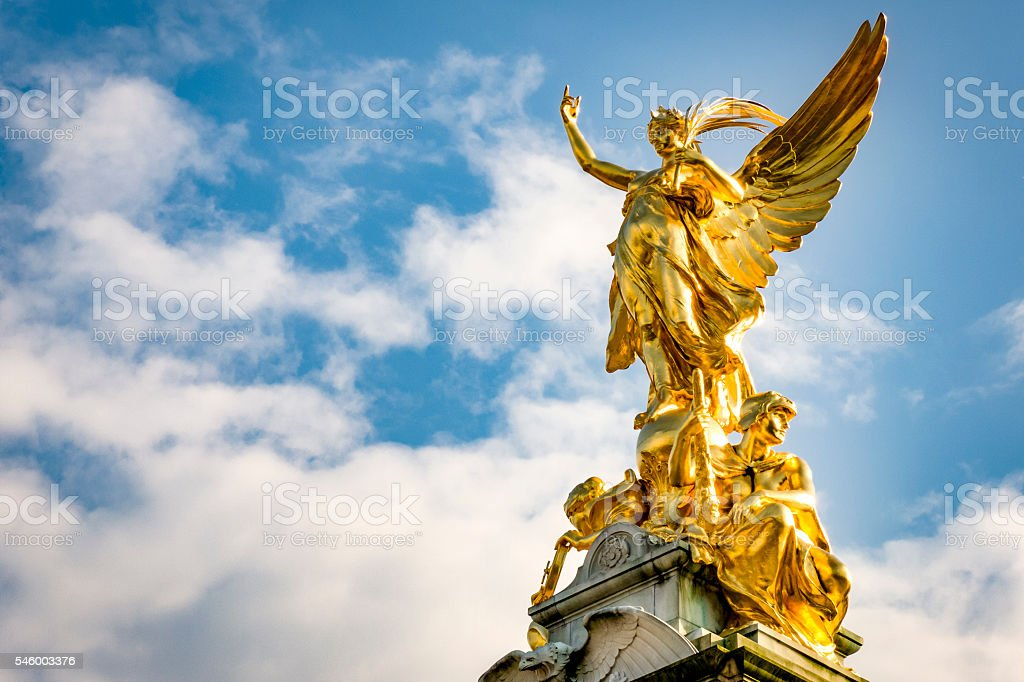 The Victoria Memorial in London, England, UK stock photo