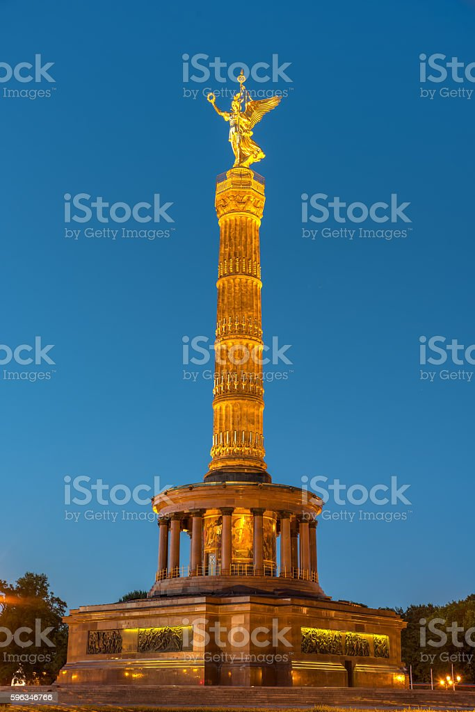 The Victory Column in Berlin stock photo
