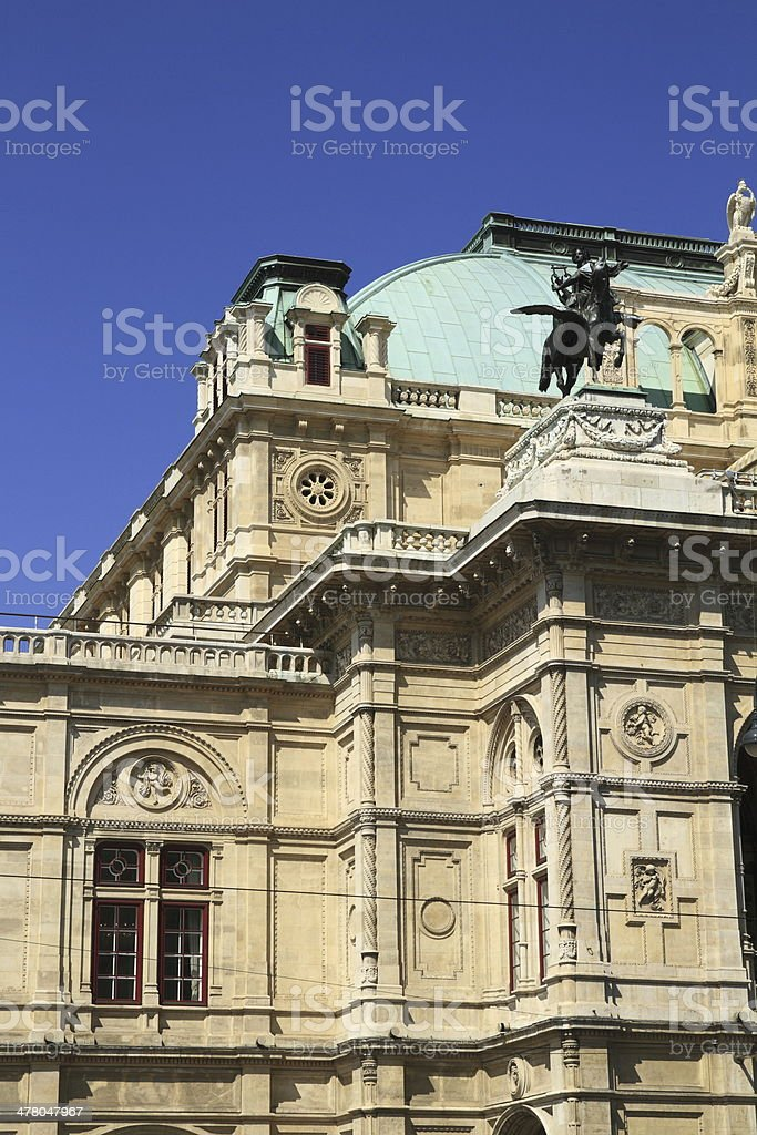 The Vienna State Opera royalty-free stock photo