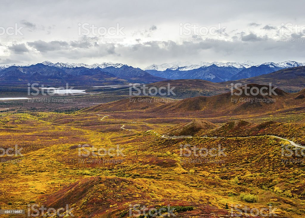 The View from Belanger Pass stock photo