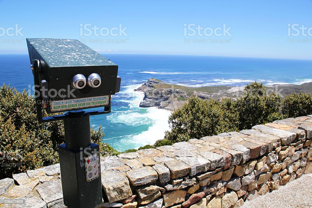 The View from Cape Point, South Africa stock photo