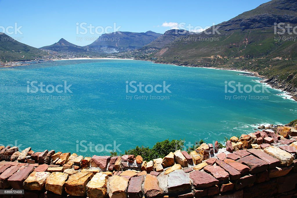 The View from Chapman's Peak Drive in South Africa stock photo