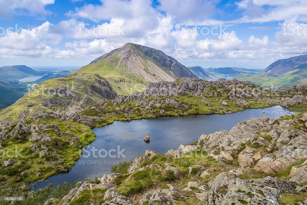 The view from Haystacks in The Lake District, Cumbria, England stock photo