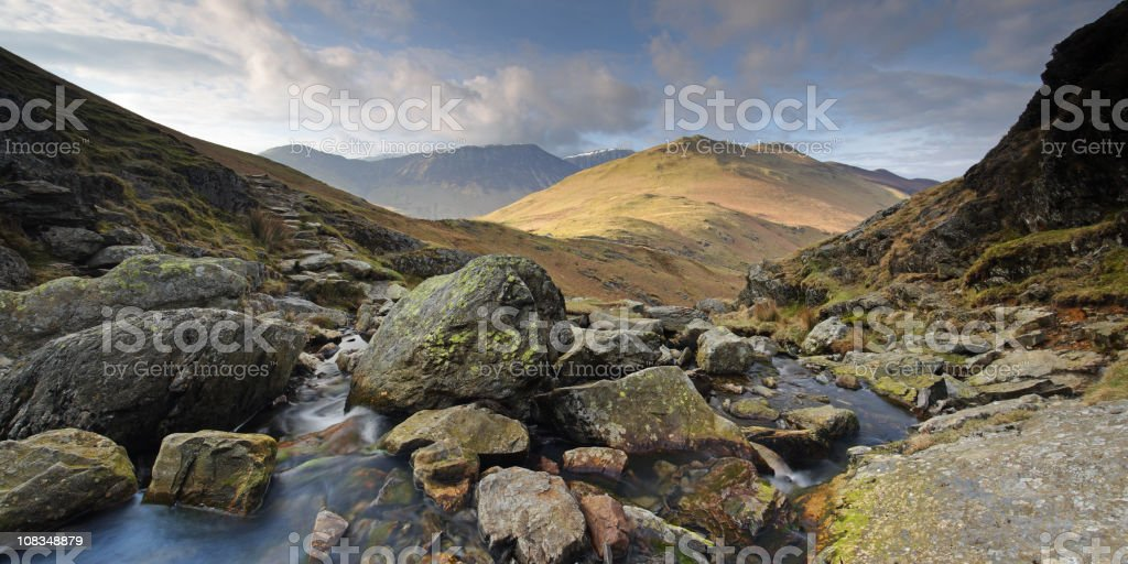 The view from Mossforce, Lake District National Park, Cumbria, U.K royalty-free stock photo
