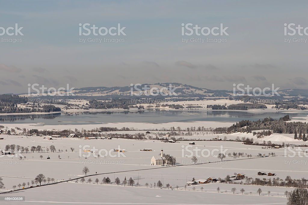 The view from Neuschwanstein royalty-free stock photo