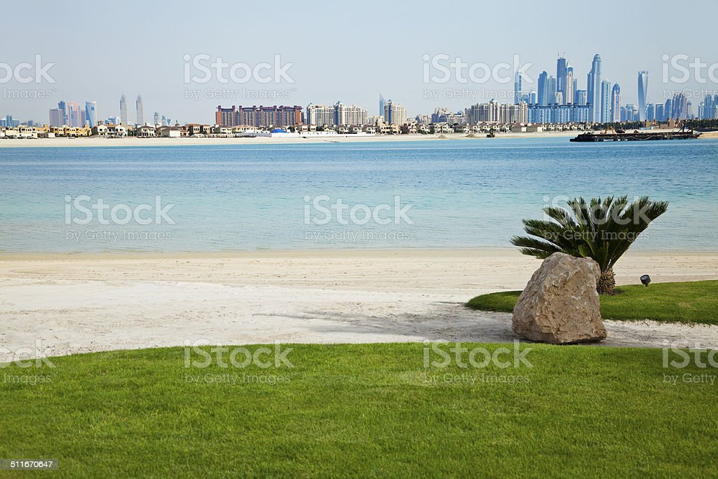 The view from Palm Jumeirah stock photo