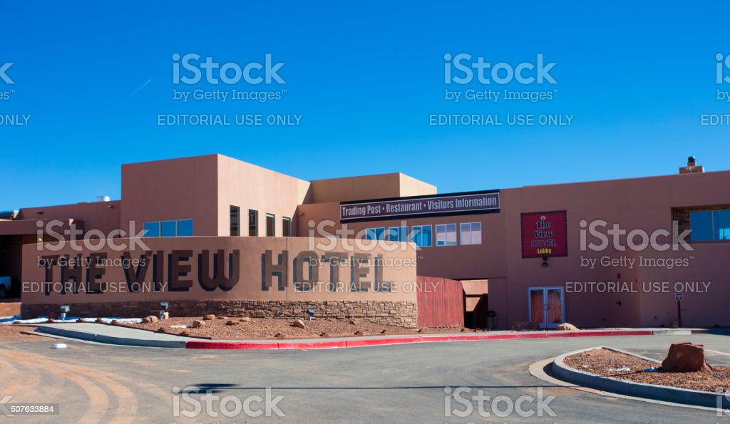 The View Hotel in Monument Valley stock photo