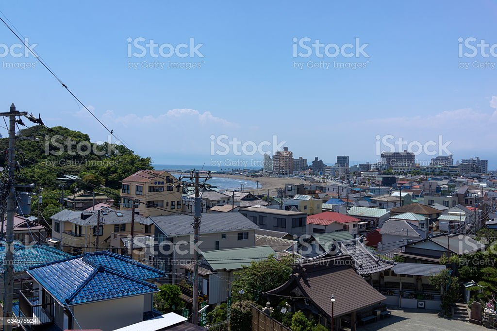 The view in Koshigoe town, Japan. stock photo