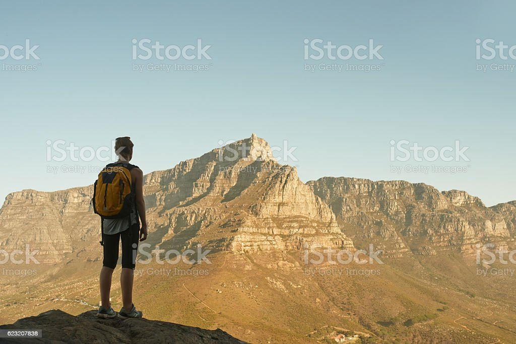 The view is reserved for the victor stock photo