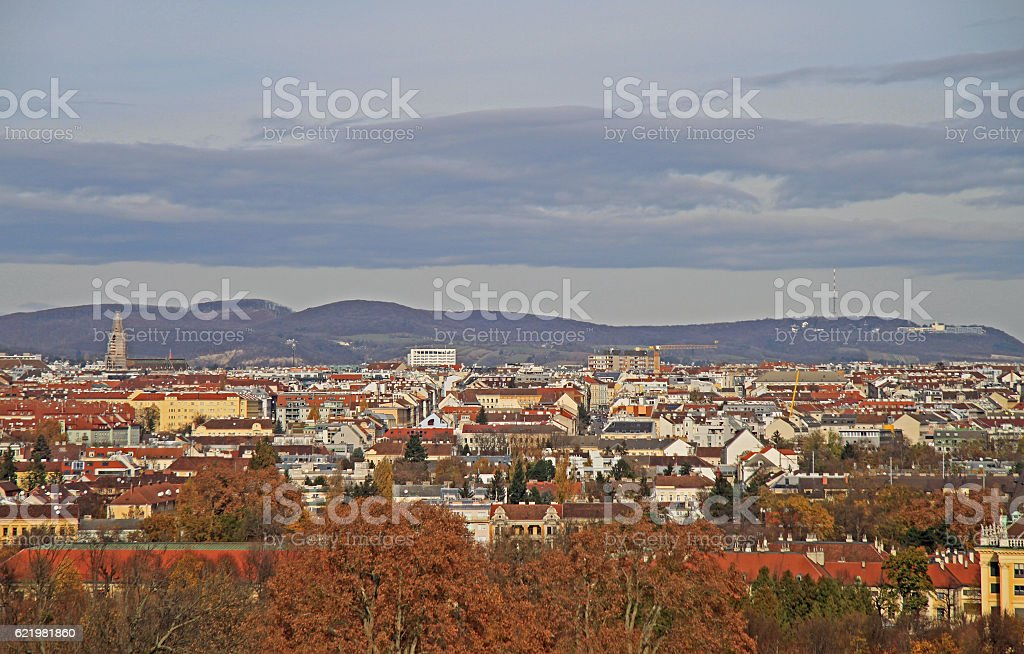 the view of austrian capital Vienna stock photo