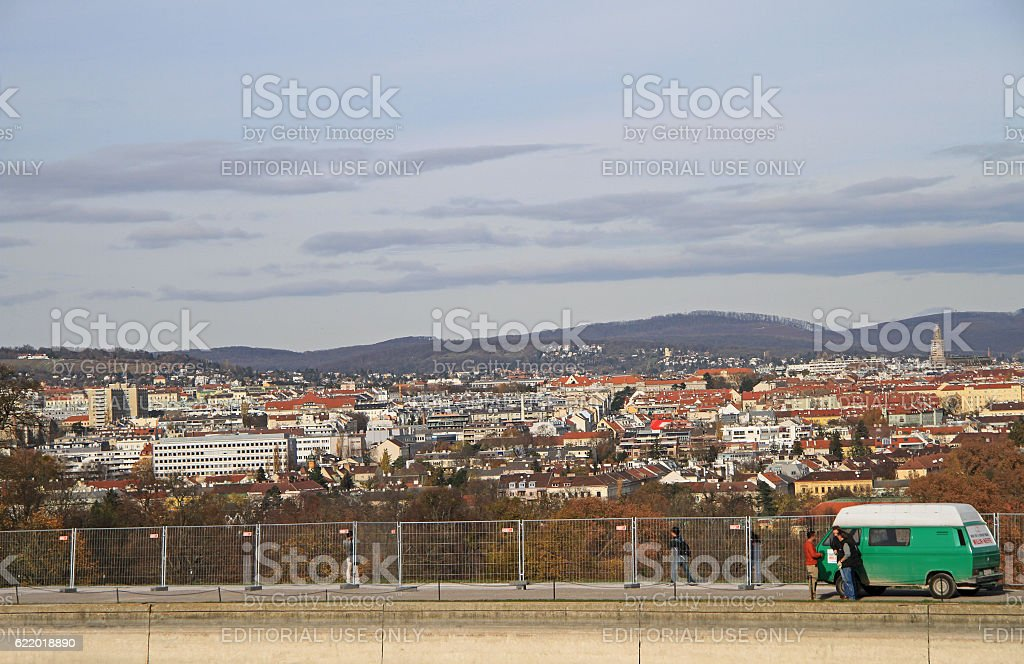 the view of austrian capital Vienna stock photo