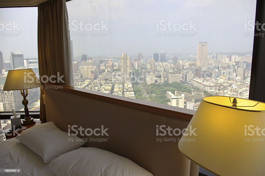 The view of bedroom royalty-free stock photo