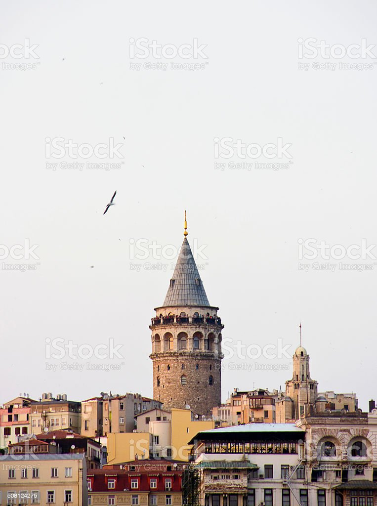 The view of Galata Tower stock photo
