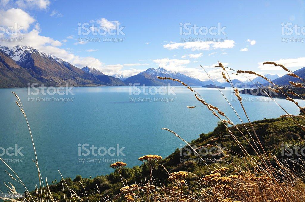 The View of Lake Wakatipu stock photo
