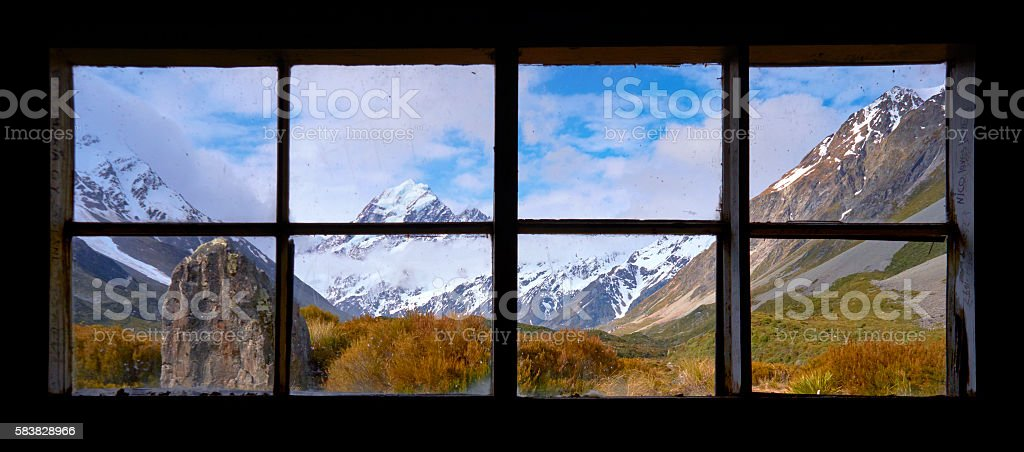 The View Of Mt Cook stock photo