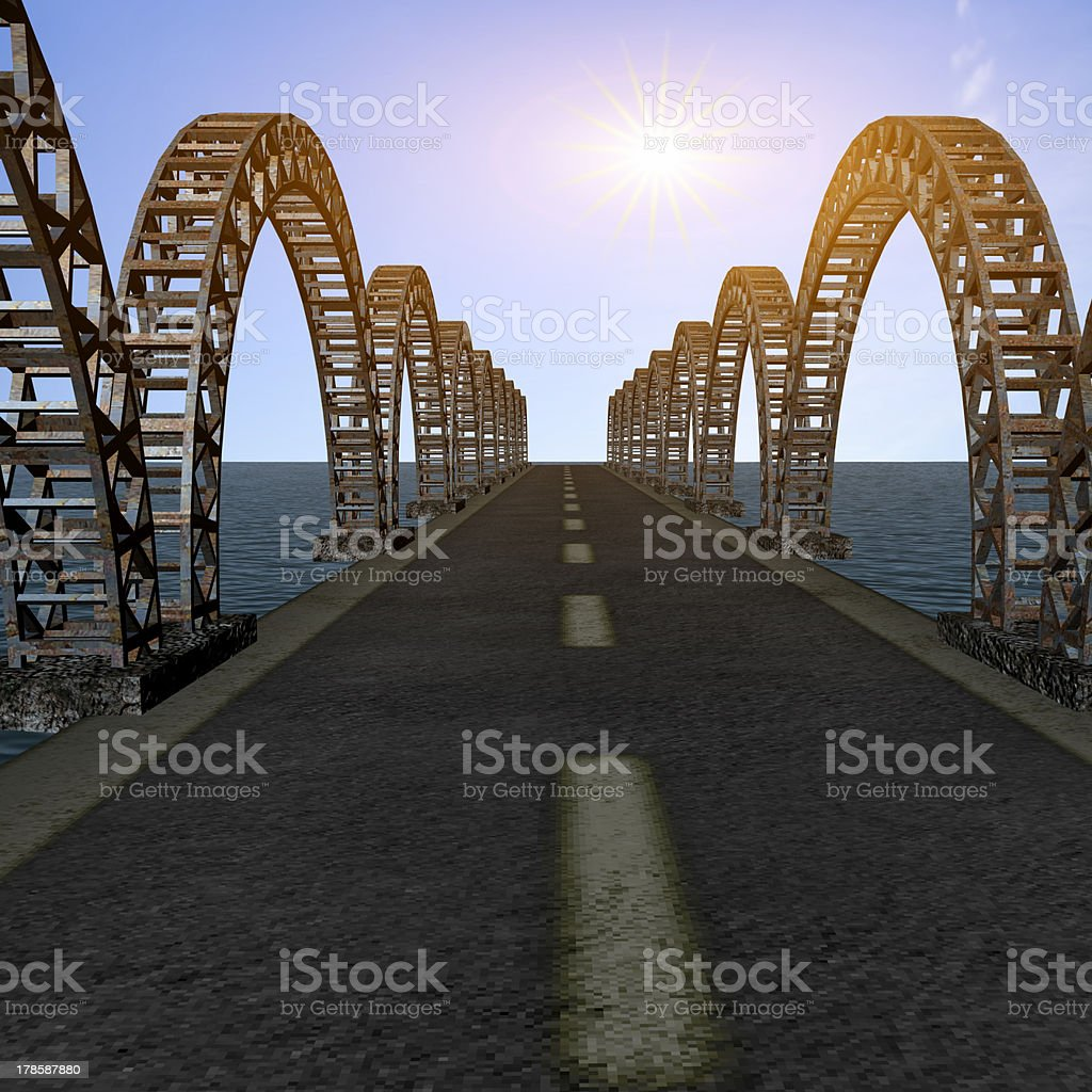 the view of old bridge royalty-free stock photo