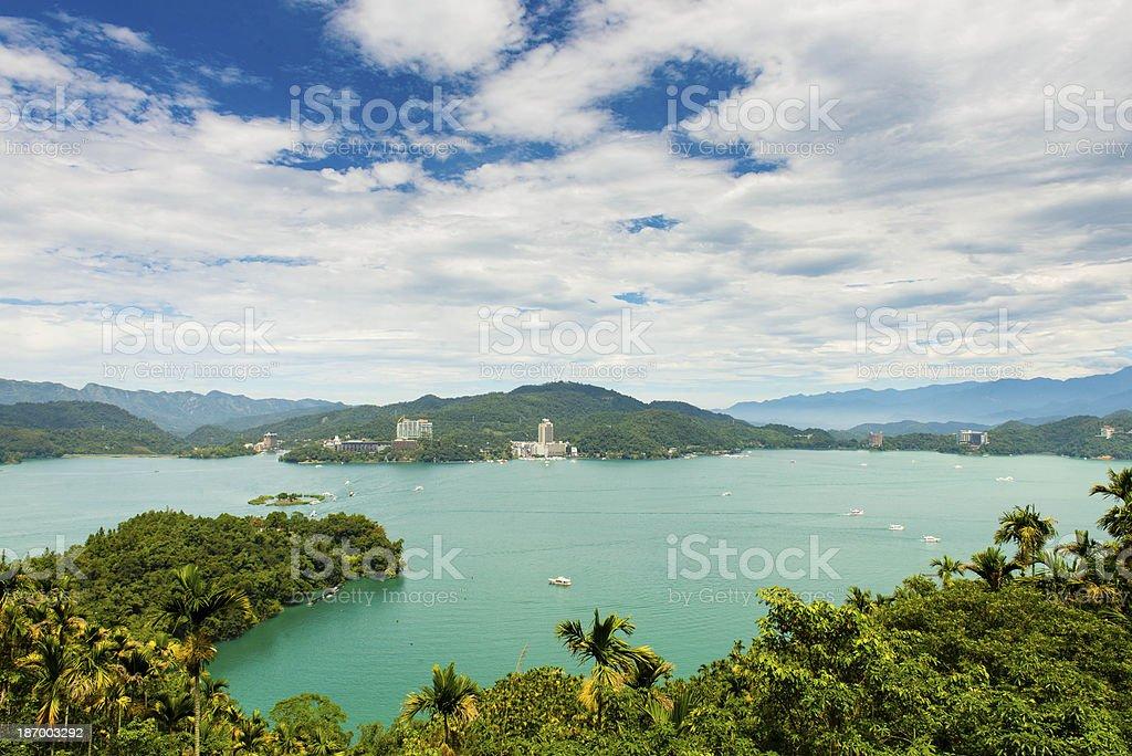 The view of Sun Moon Lake stock photo