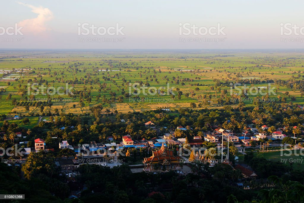The view of the countryside in Battambang stock photo