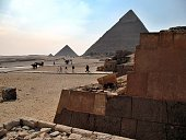 The view of the pyramids, Giza, Cairo