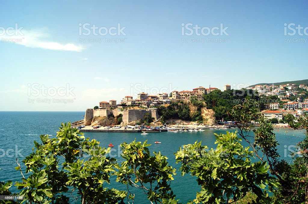 The view of Ulcinj fortress, Montenegro stock photo