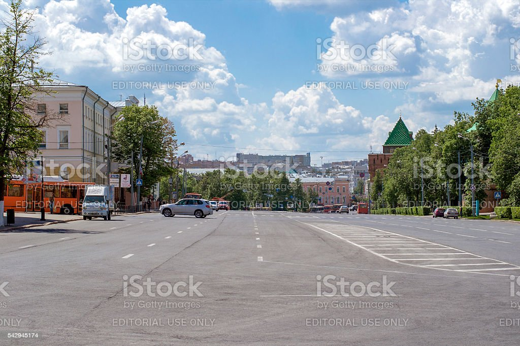The view on the square of Minin stock photo