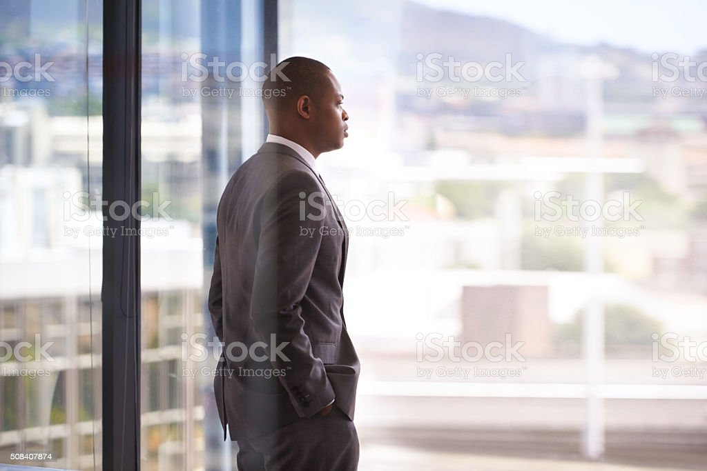 The view that says, 'You've made it' stock photo