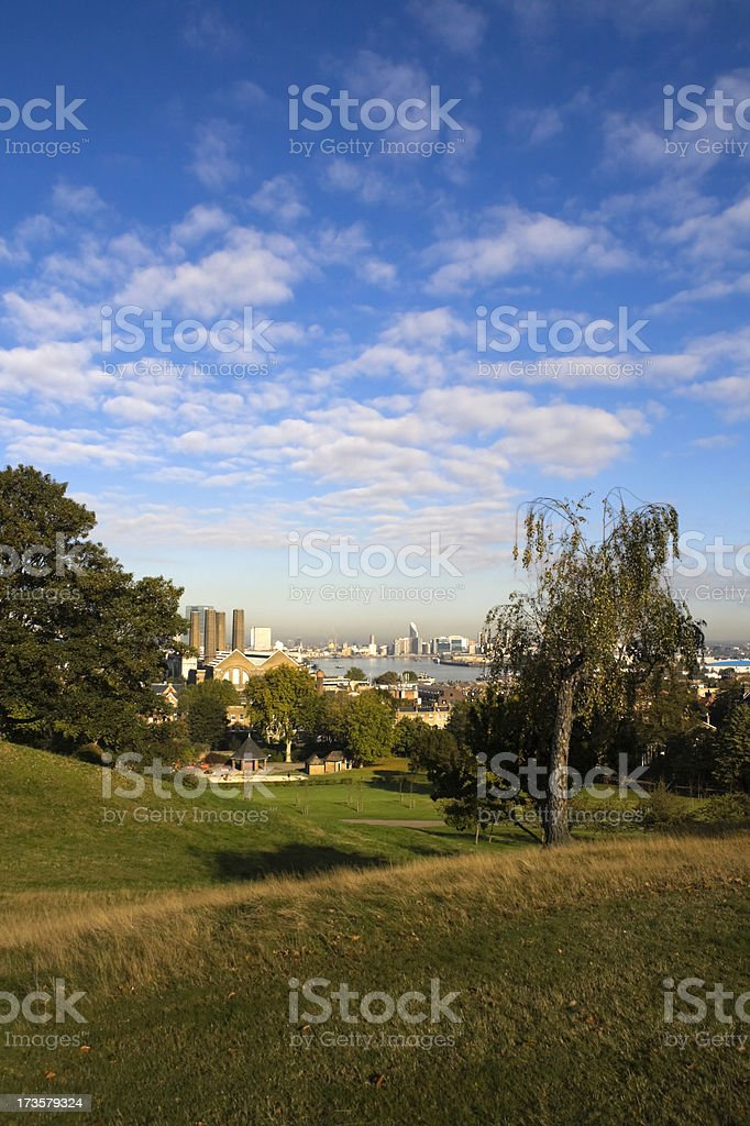 The view towards Woolwich royalty-free stock photo
