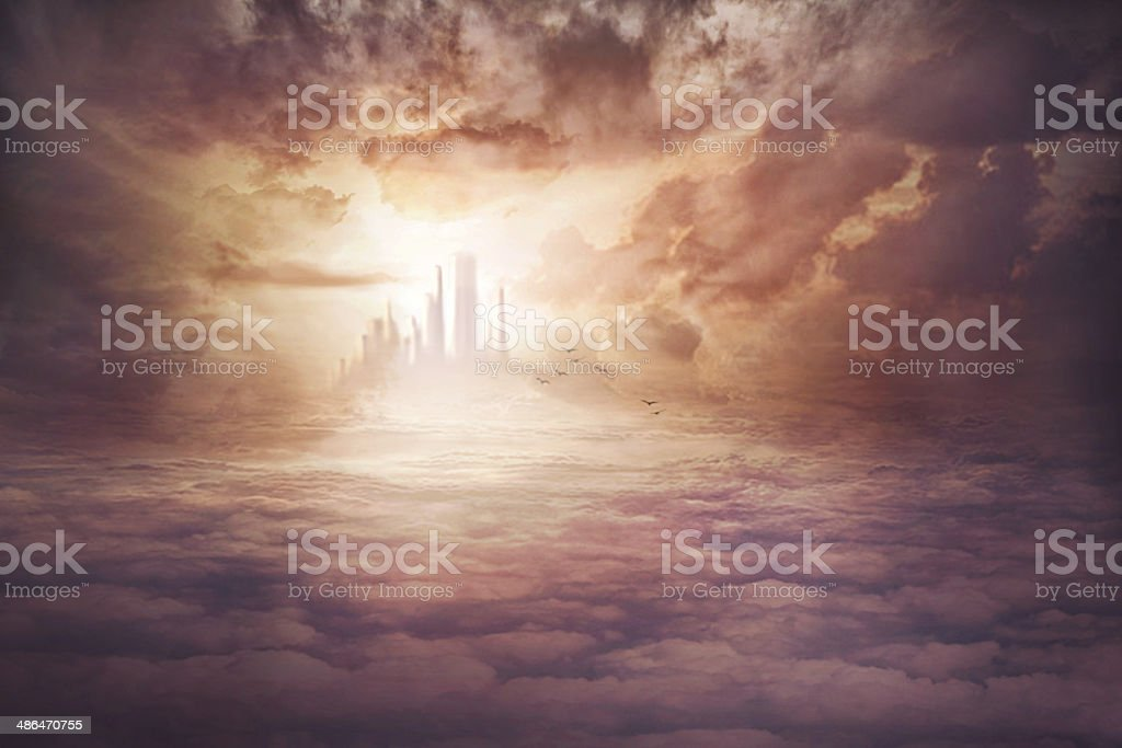 The view when you get to Heaven stock photo