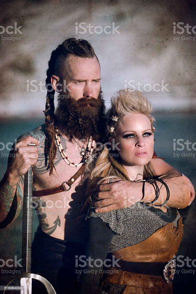 The Vikings stock photo