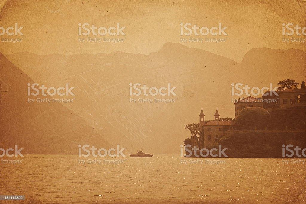 The Villa del Balbianello in Lake Como stock photo