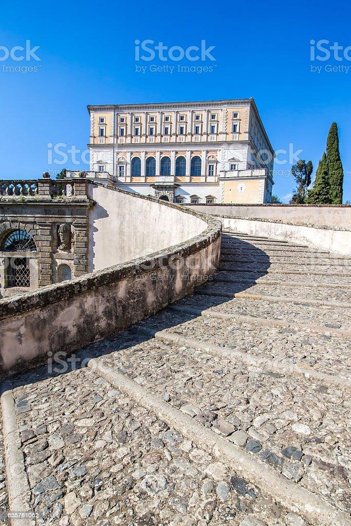 The Villa Farnese in Caprarola, italy stock photo
